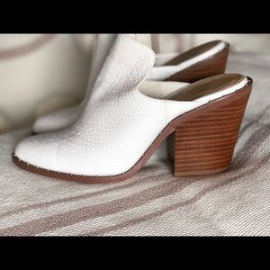 White Leather Booties Chinese Laundry Size 7